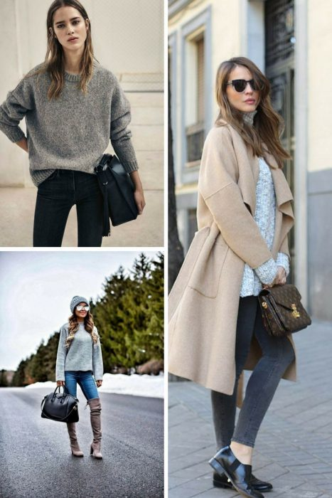Grey Sweater Outfits 2018 (6)