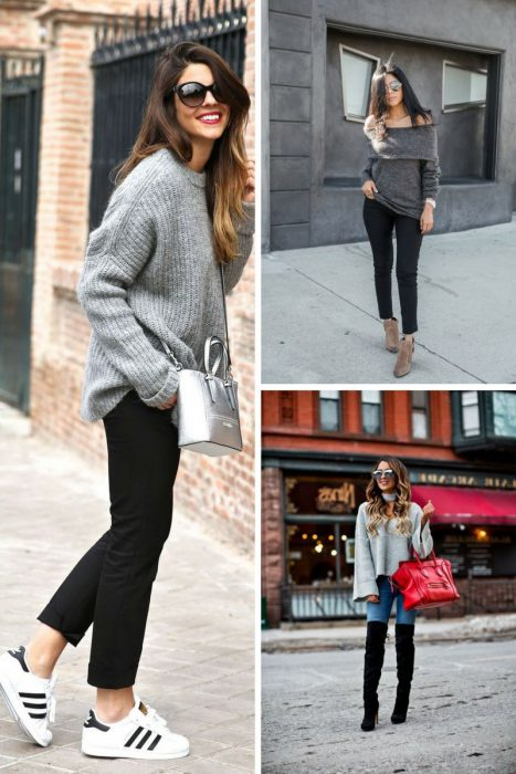 Grey Sweater Outfits 2018 (7)