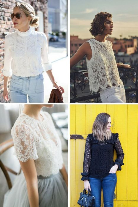 Lace Blouses Outfits 2018 (4)
