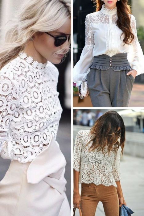 Lace Blouses Outfits 2018 (7)