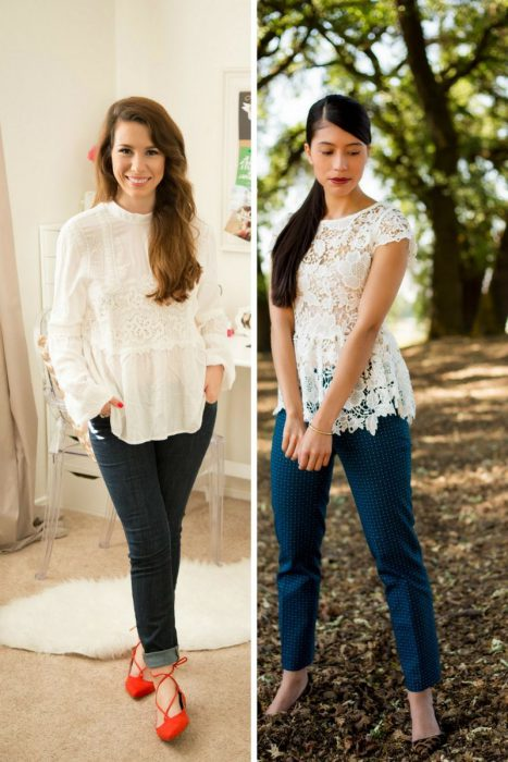 Lace Blouses Outfits 2018 (9)