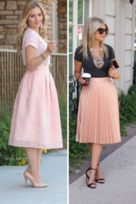 27 Midi Skirts Outfit Ideas 2019
