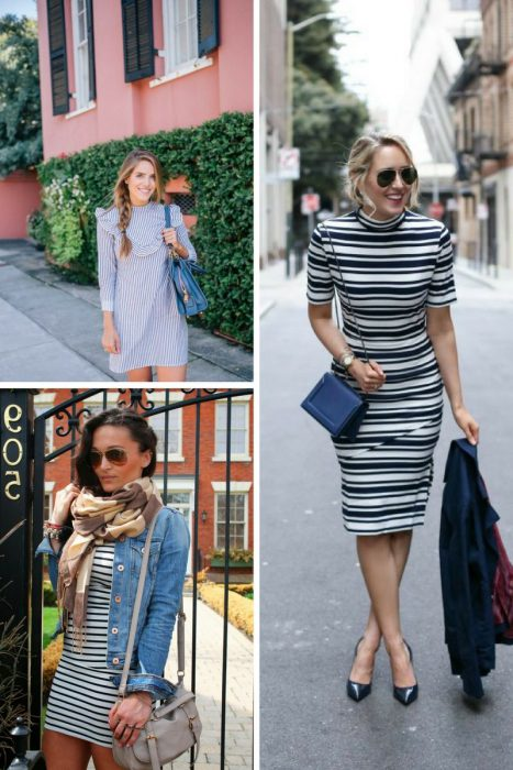 28 Ways To Wear Striped Dresses 2019