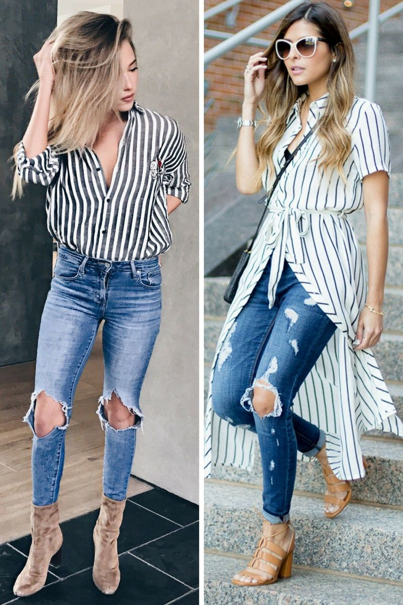 70ce961f60e5 How To Style Striped Shirts In Spring 2019 - OnlyWardrobe.com