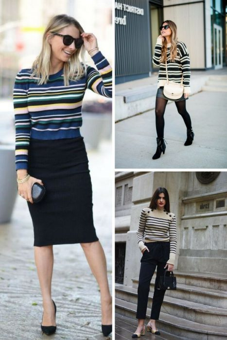 Striped Sweater Outfits 2018 (13)