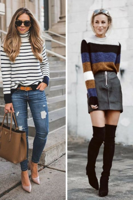 Striped Sweater Outfits 2018 (15)