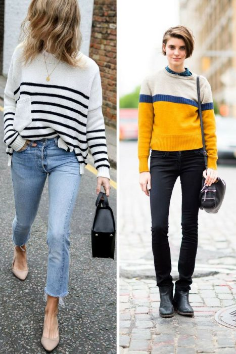 Striped Sweater Outfits 2018 (5)