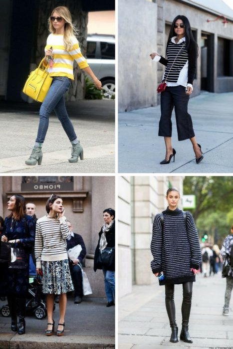 Striped Sweater Outfits 2018 (8)