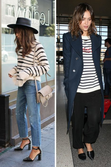 Striped Sweater Outfits 2018 (9)