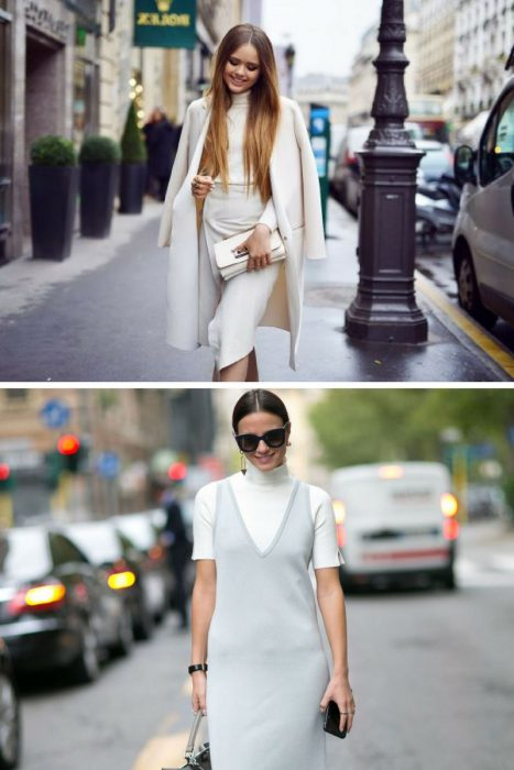 White Turtlenecks Best Combinations To Copy Now 2019