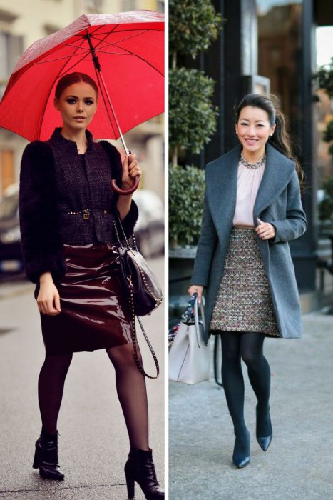 Winter Outfits With Skirts 2018 (1)