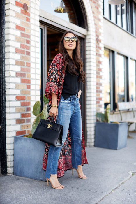 Best Kimono And Jeans Outfit Ideas For Women 2018 (3)