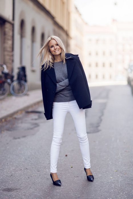 White Jeans Outfit Ideas For Women 2018 Street Style (2)