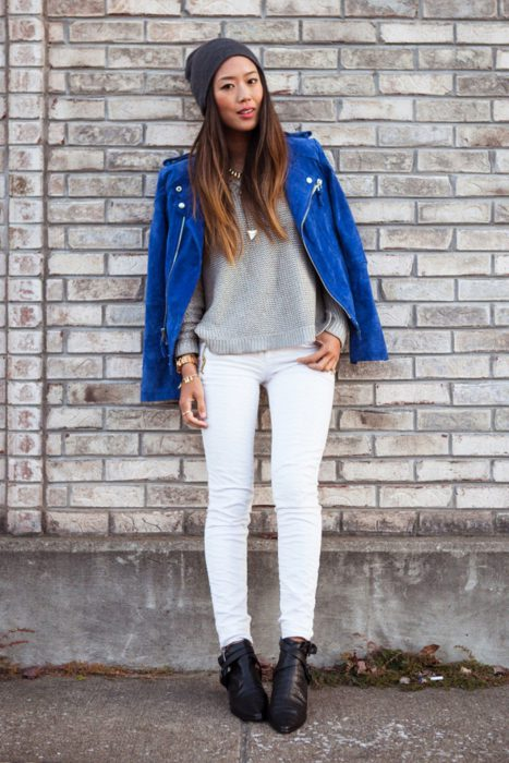 White Jeans Outfit Ideas For Women 2018 Street Style (4)