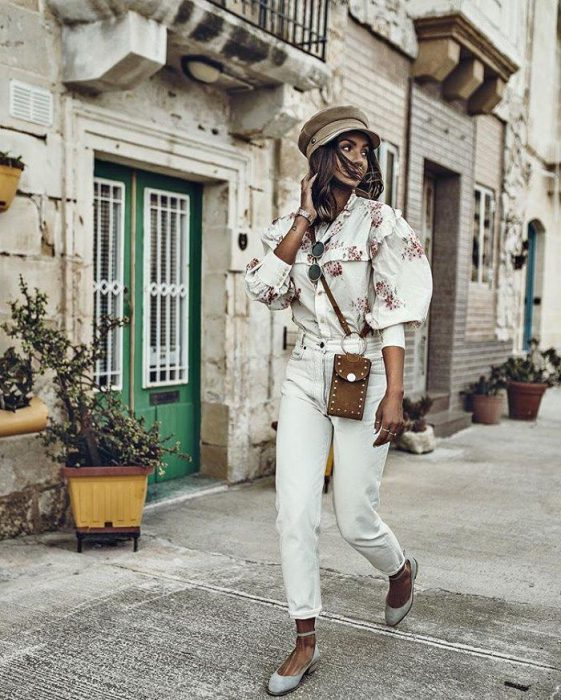 White Jeans Outfit Ideas For Women 2018 Street Style (6)