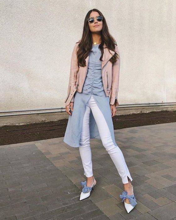 White Jeans Outfit Ideas For Women 2018 Street Style (7)