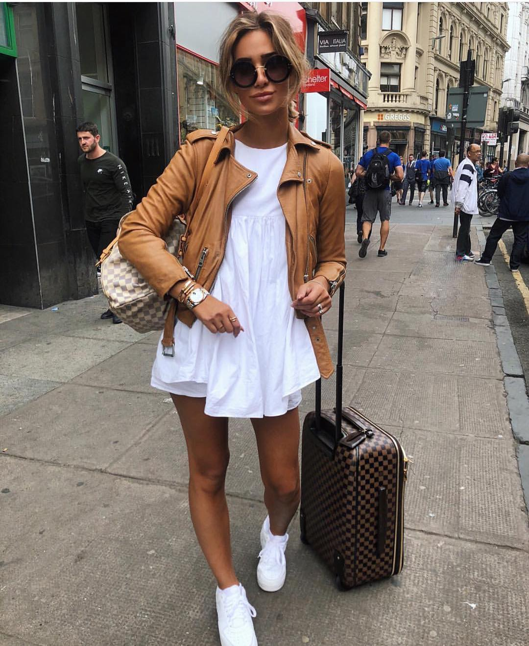 Light Brown Leather Jacket For Summer Vacation 2019