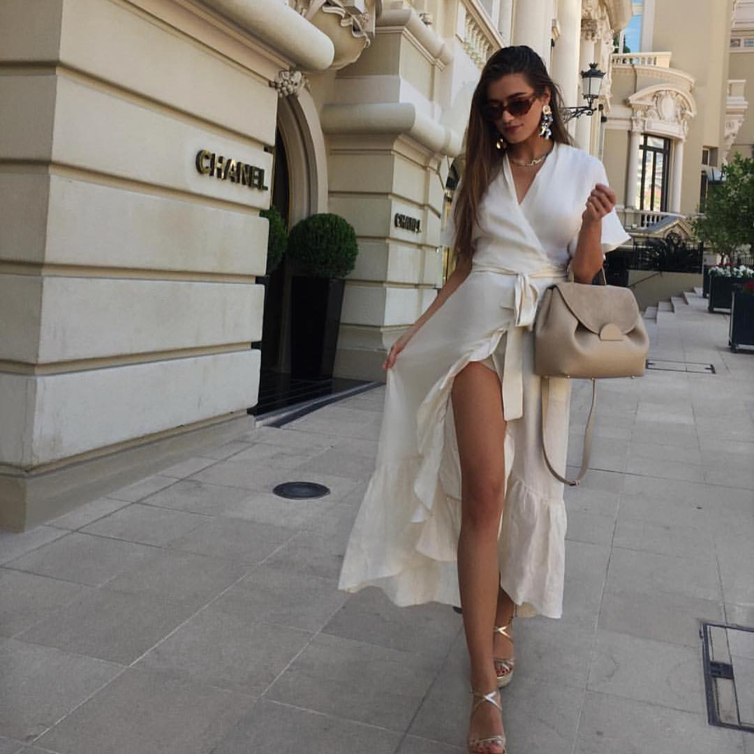 Can I Wear Wrap Belted Midi White Dress This Summer 2020