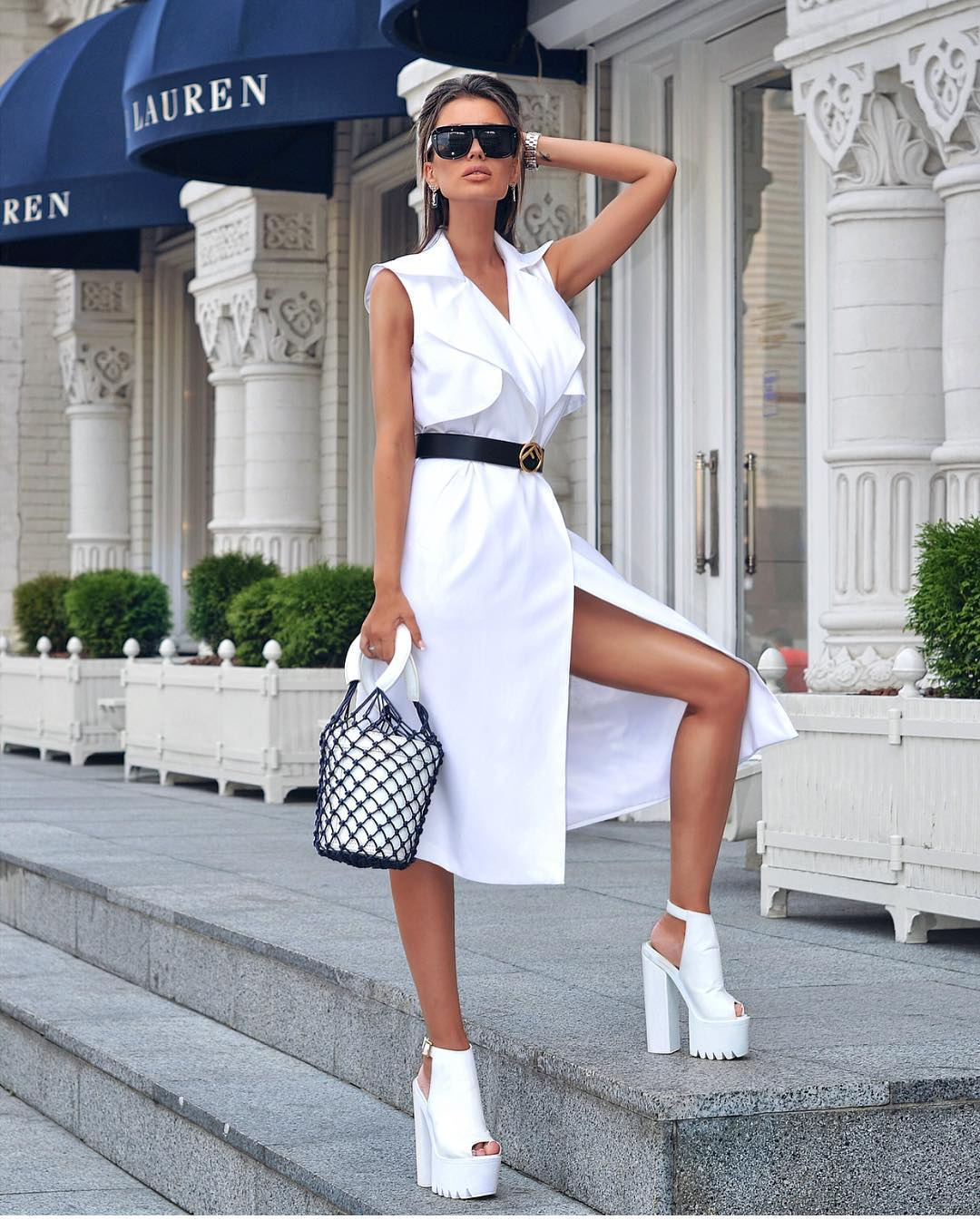 All White Outfit Idea For Summer Vacation 2019