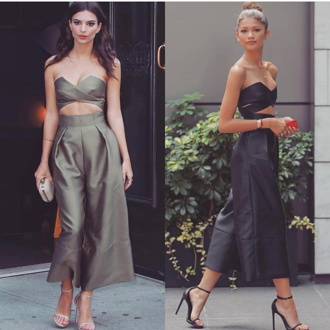 Summer Jumpsuit With Crop Top And Cropped Wide Pants 2020