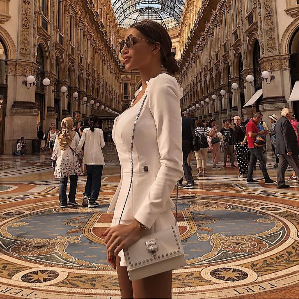 White Tailored Shorts Suit For Italian Style Ladies 2019