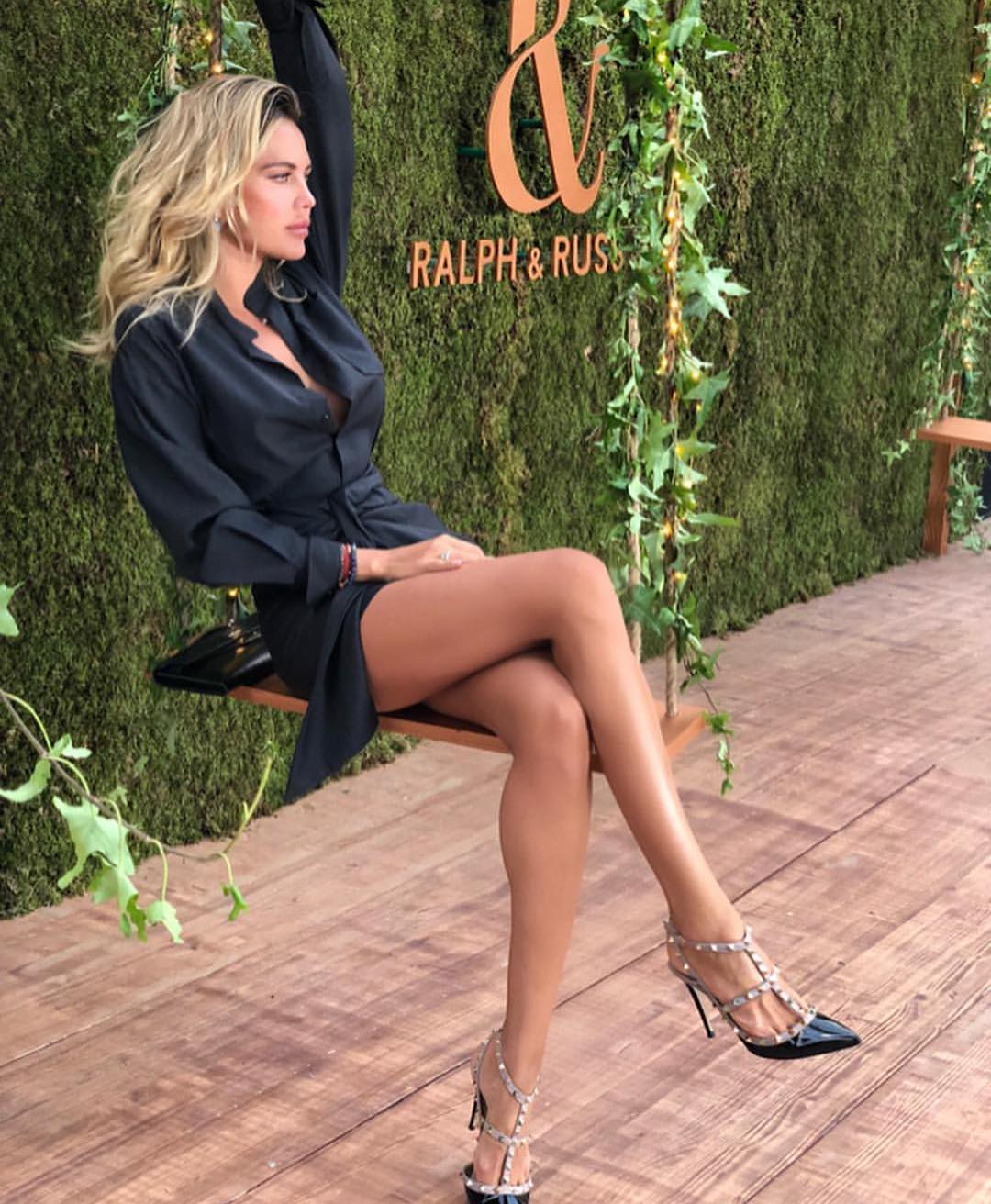 Belted Black Shirtdress And Studded Pointed-toe Heels For Garden Parties 2020
