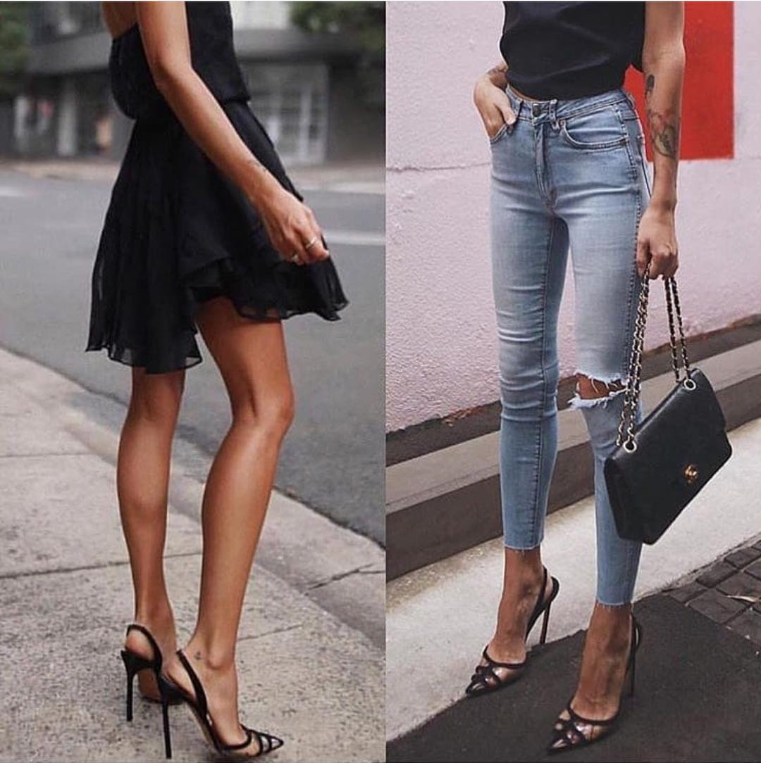 How To Wear Clear Caged Black Heels This Summer 2019