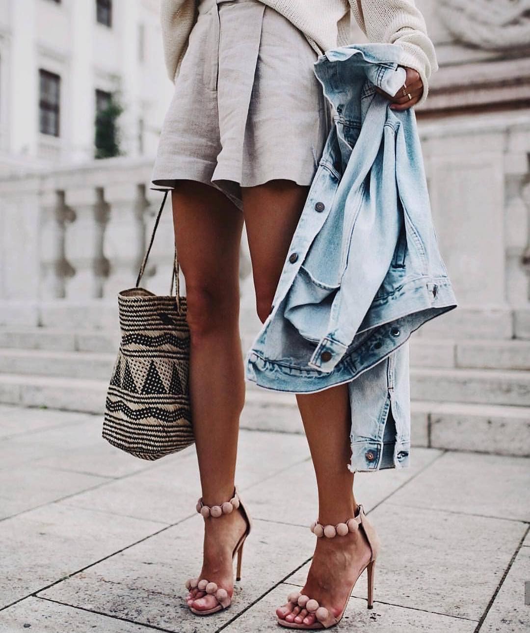 67f2466e86 How To Wear Nude Pom Pom Heeled Sandals This Summer 2019 ...