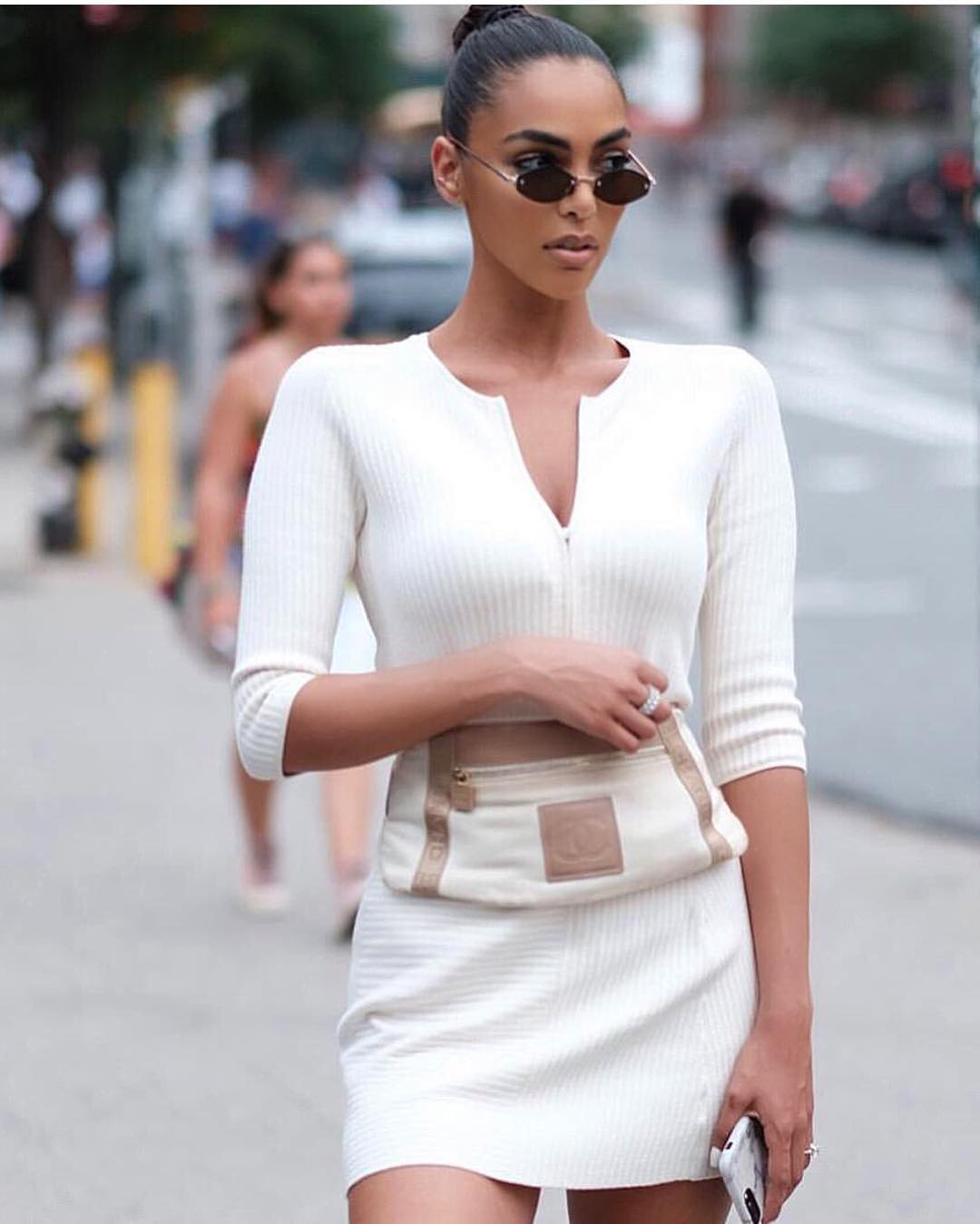 How To Wear White Ribbed Knit Slim Dress This Summer 2020