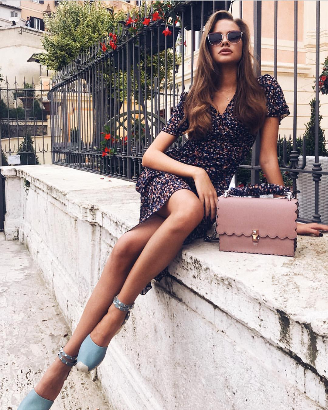 How To Style Micro Floral Black Dress For Summer 2020