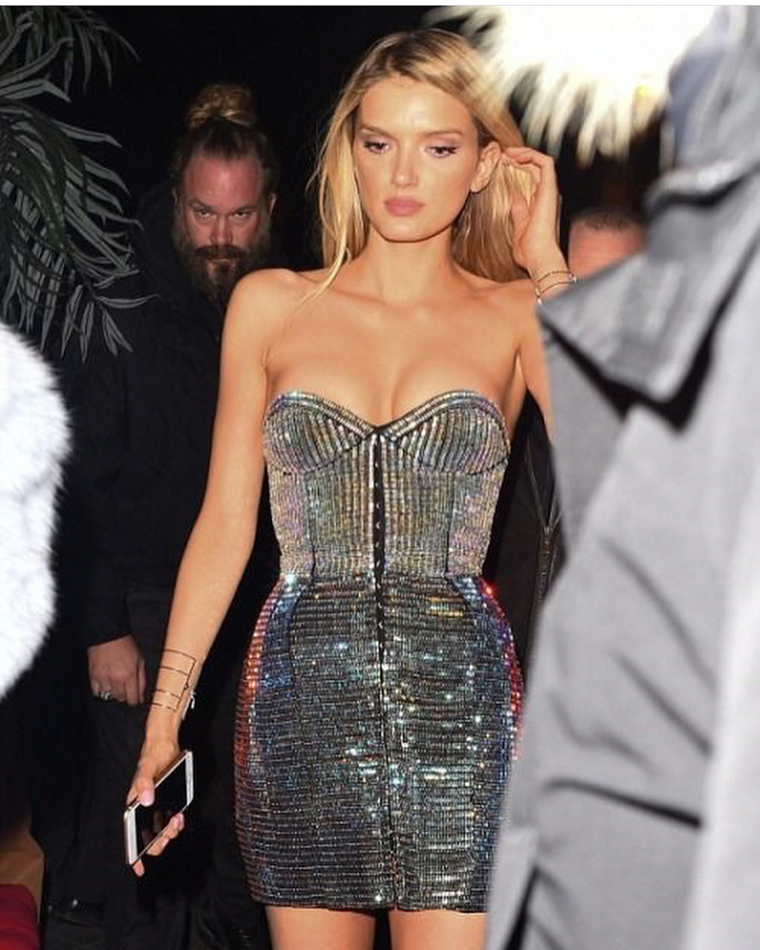 Strapless Shiny Crystal Sequin Mini Dress For Cocktail Parties 2019
