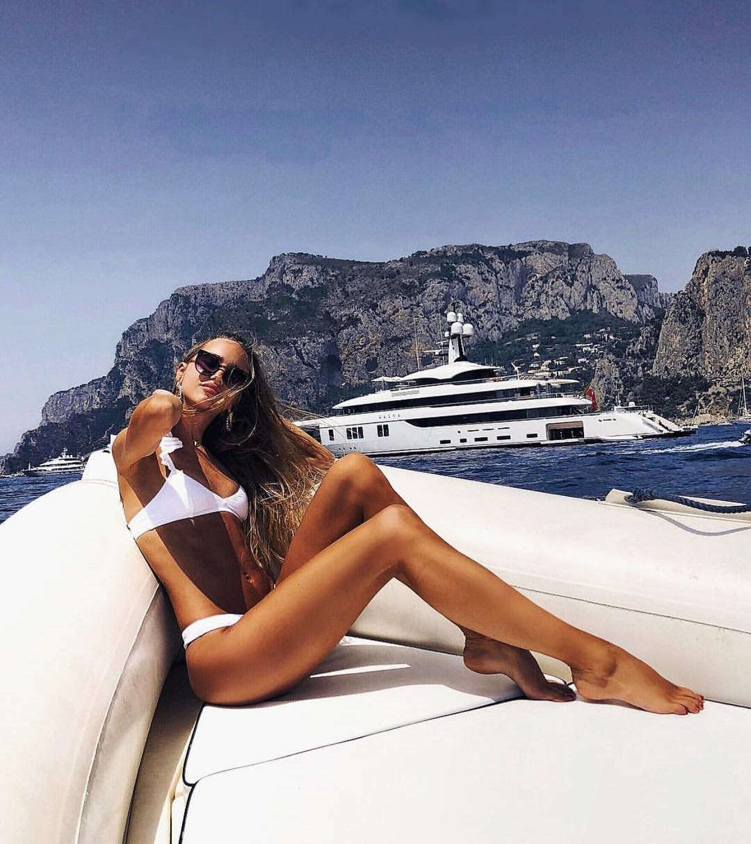 White Bikini Set For Summer Boat Trip 2019