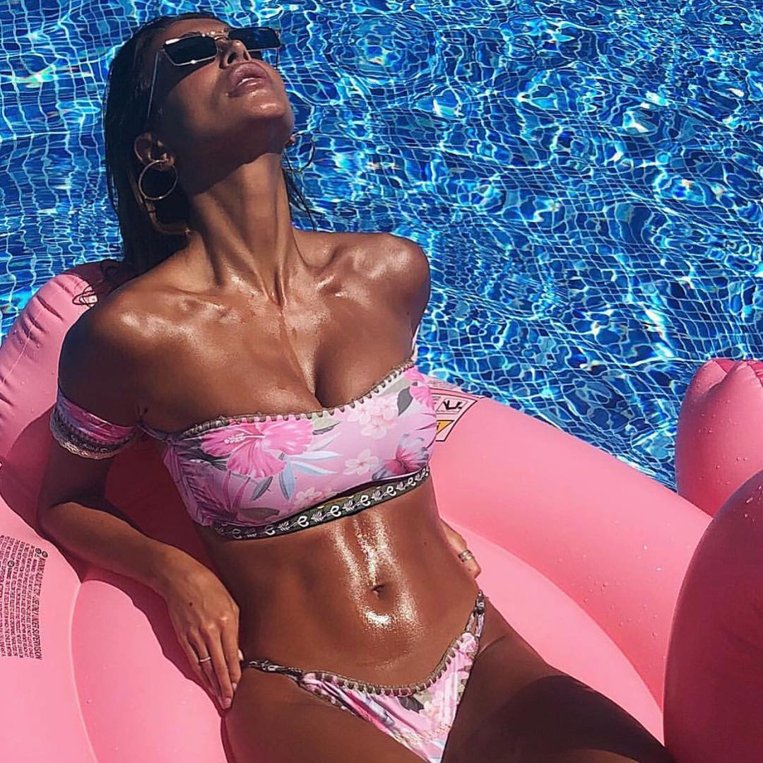 Bandeau Bikini In Blush Floral Print For Summer 2019