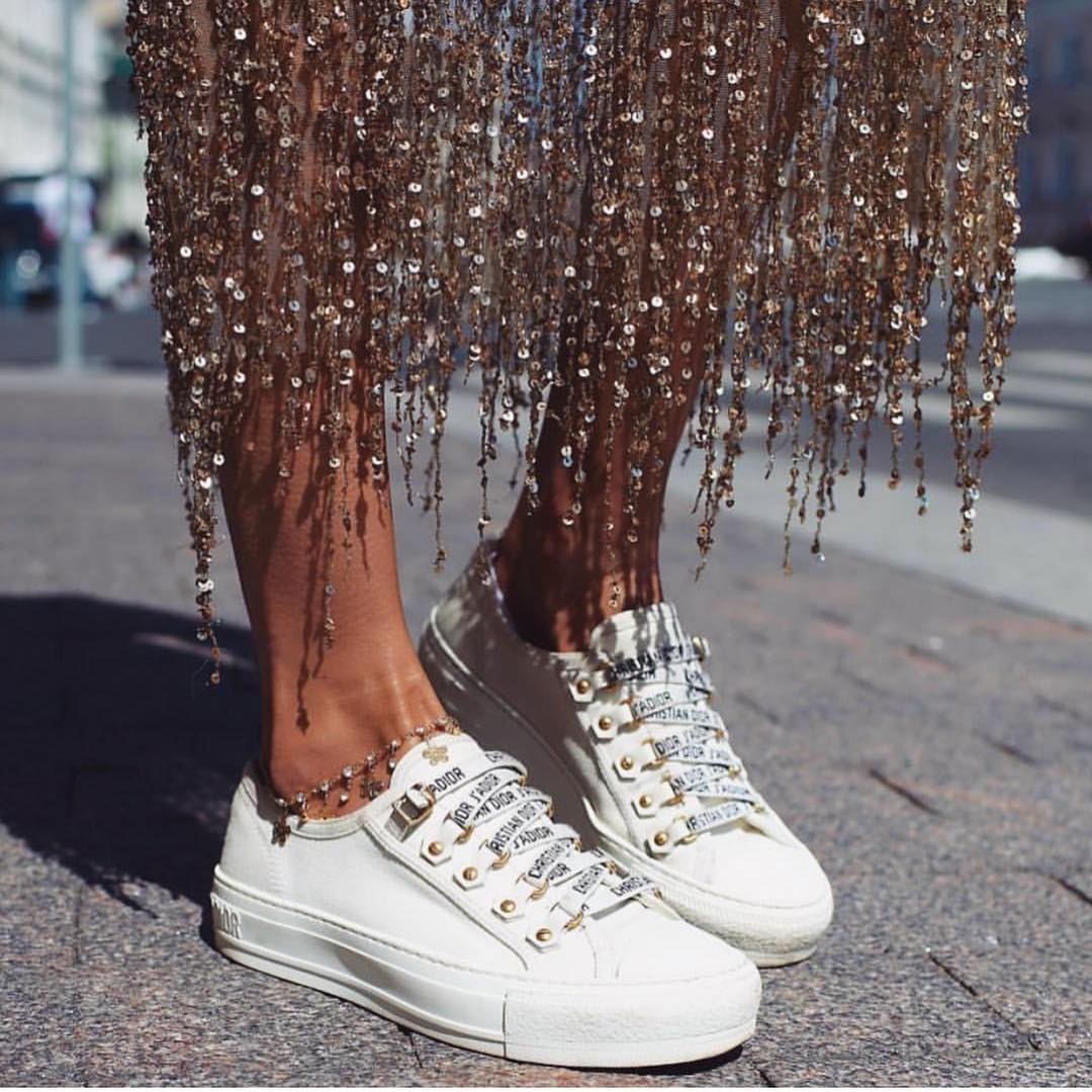 Can I Wear Sequined Dress With White Sneakers This Summer 2020