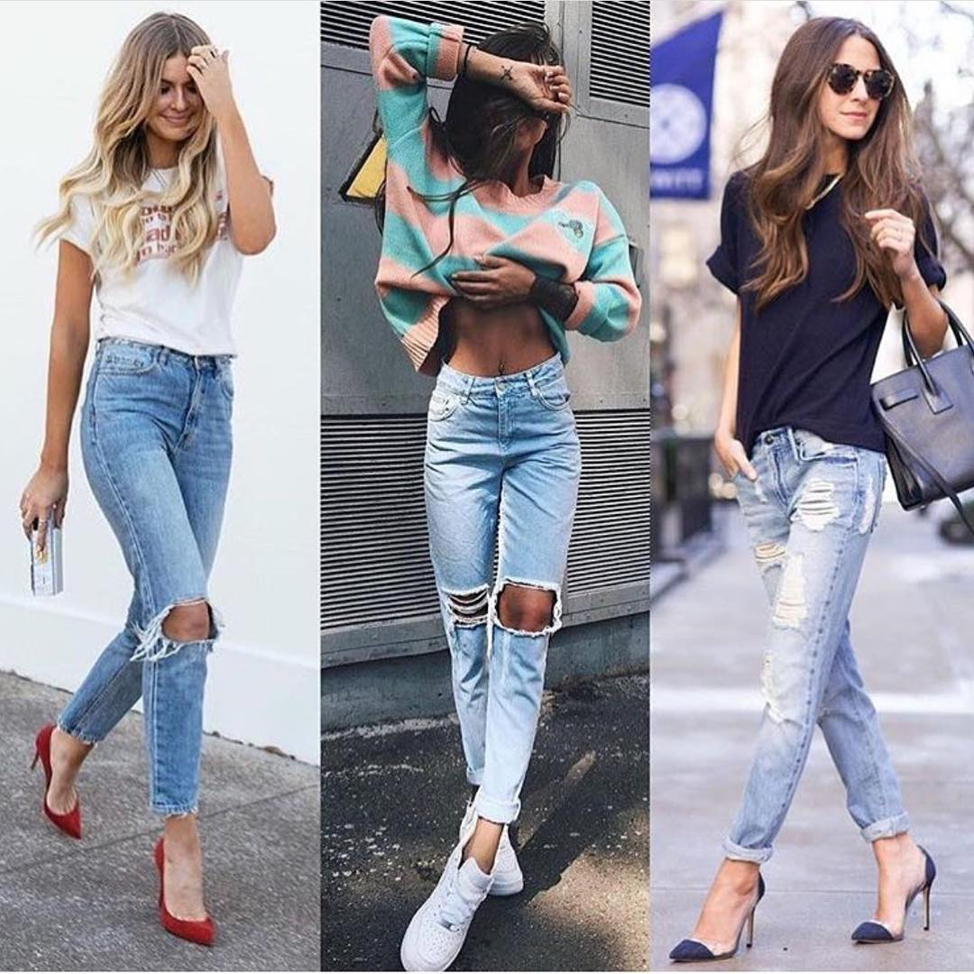 Casual Top And Jeans Outfit Ideas For Summer Street Walks 2019