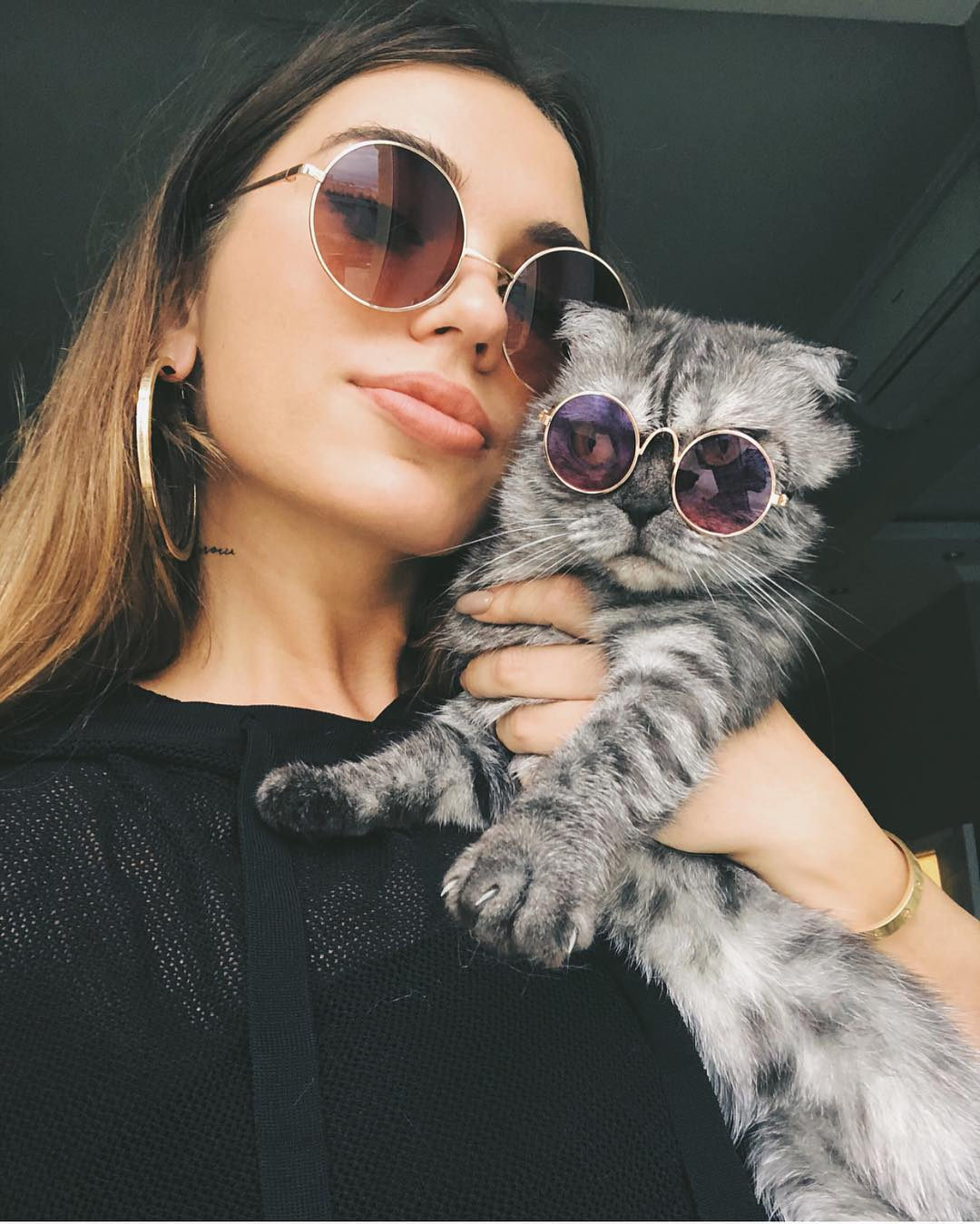 Nineties Style Rounded Sunglasses For Young Women 2019