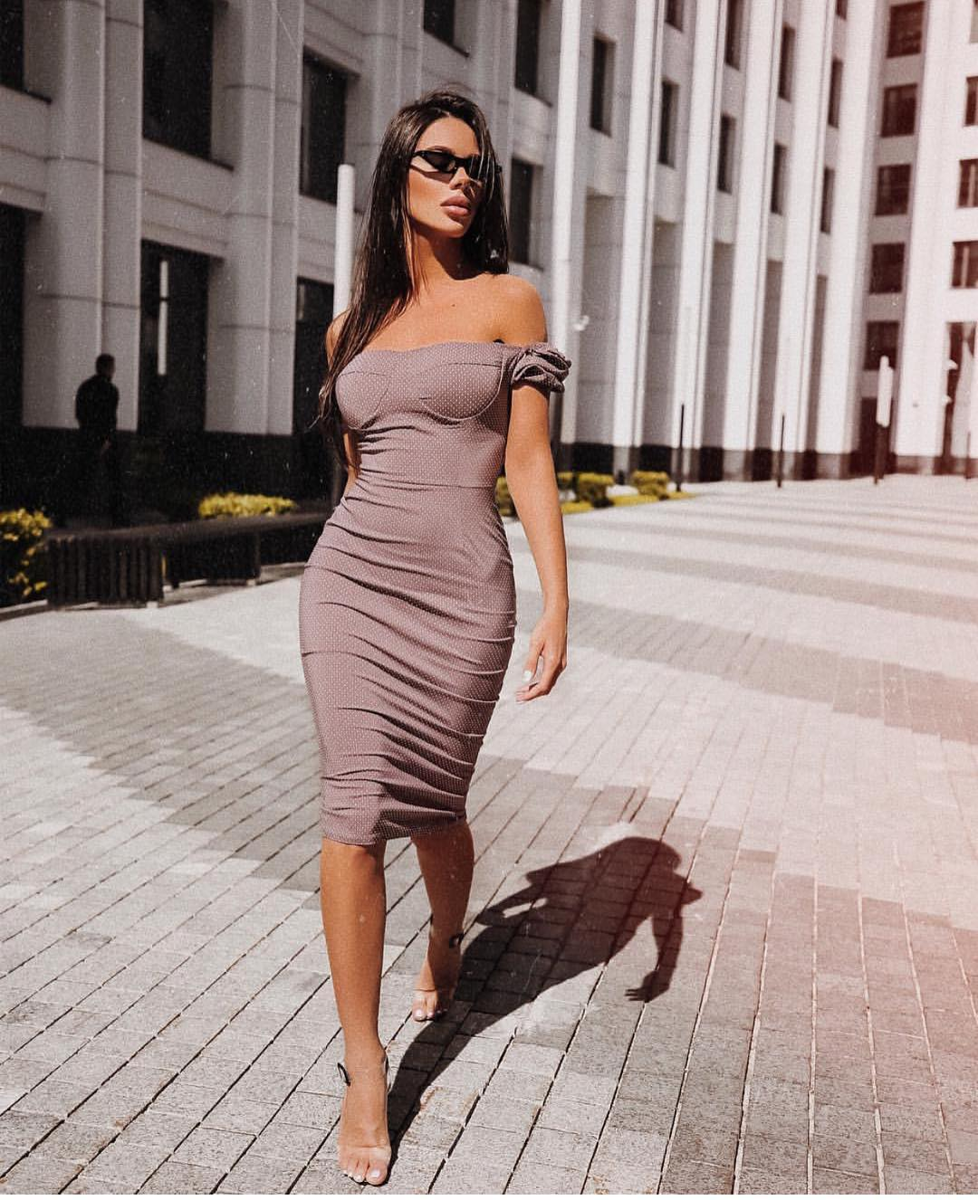Strapless Bodycon Pencil Dress For Summer 2019