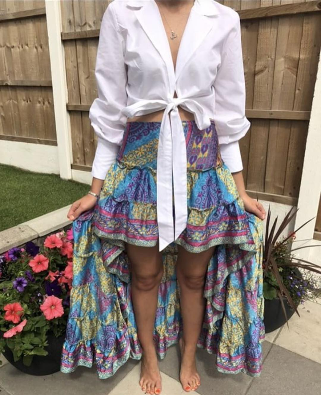 Paisley Print Maxi Skirt In Gypsy Style For Summer Vacation 2019