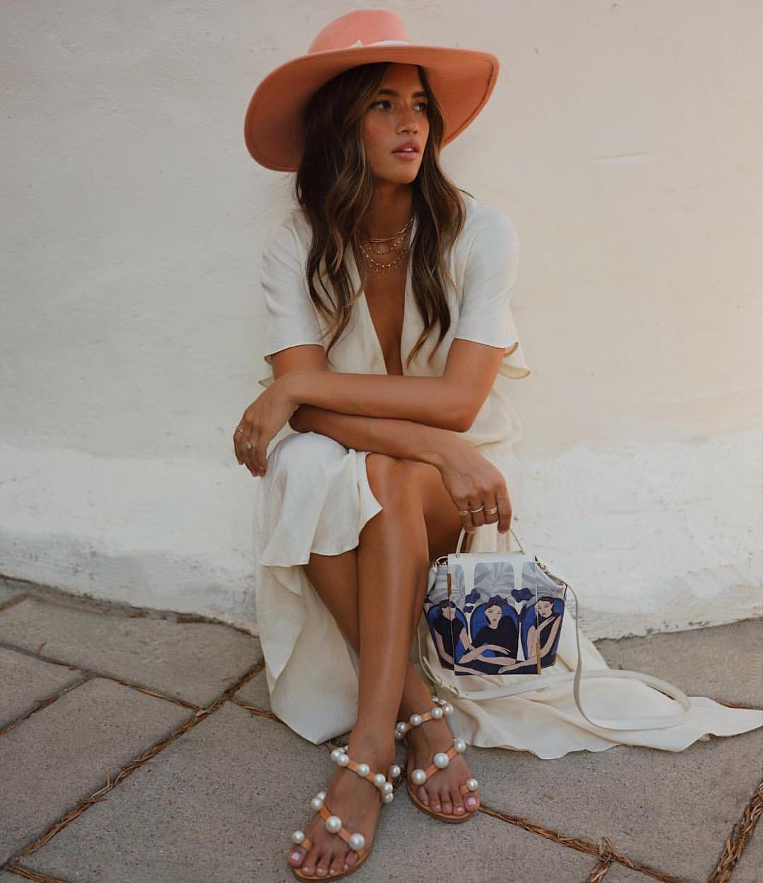 White Maxi Dress For Summer Road Trips 2019
