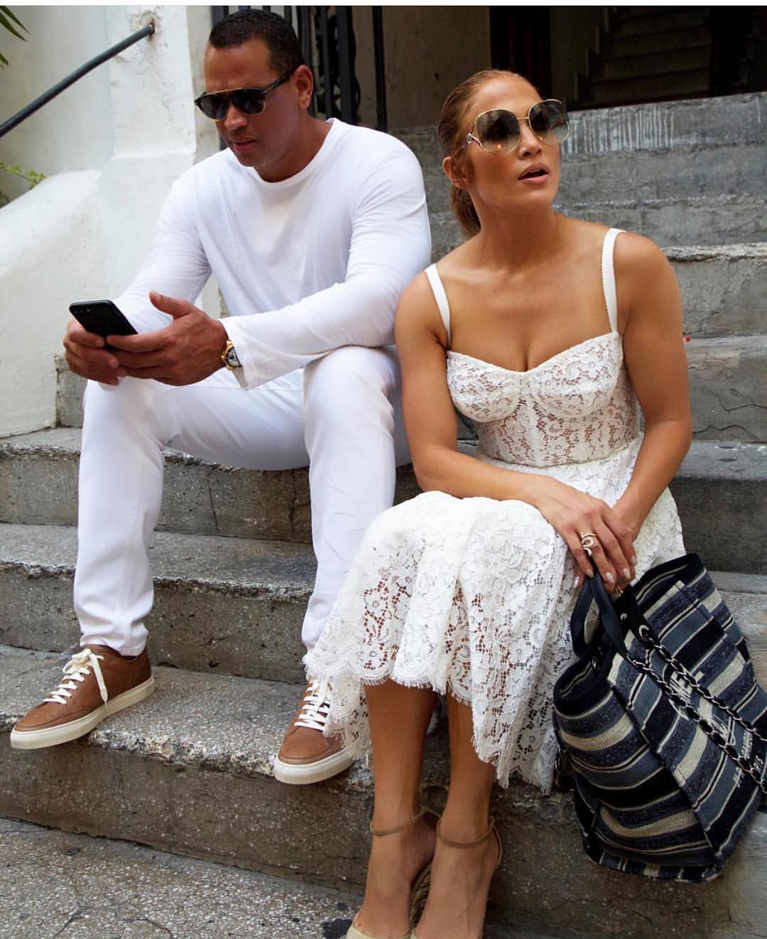 White Lace Midi Dress For Summer Trip In Italy 2019