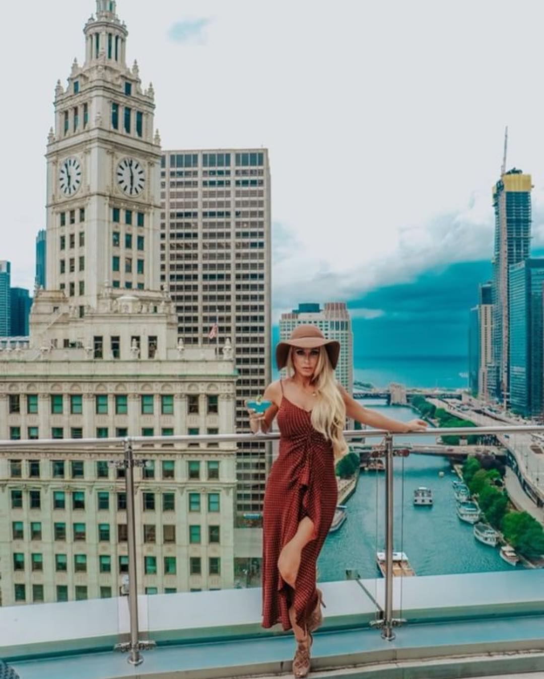 Spaghetti Strap Midi Dress With Floppy Hat And Ankle Boots For Boho Ladies 2019