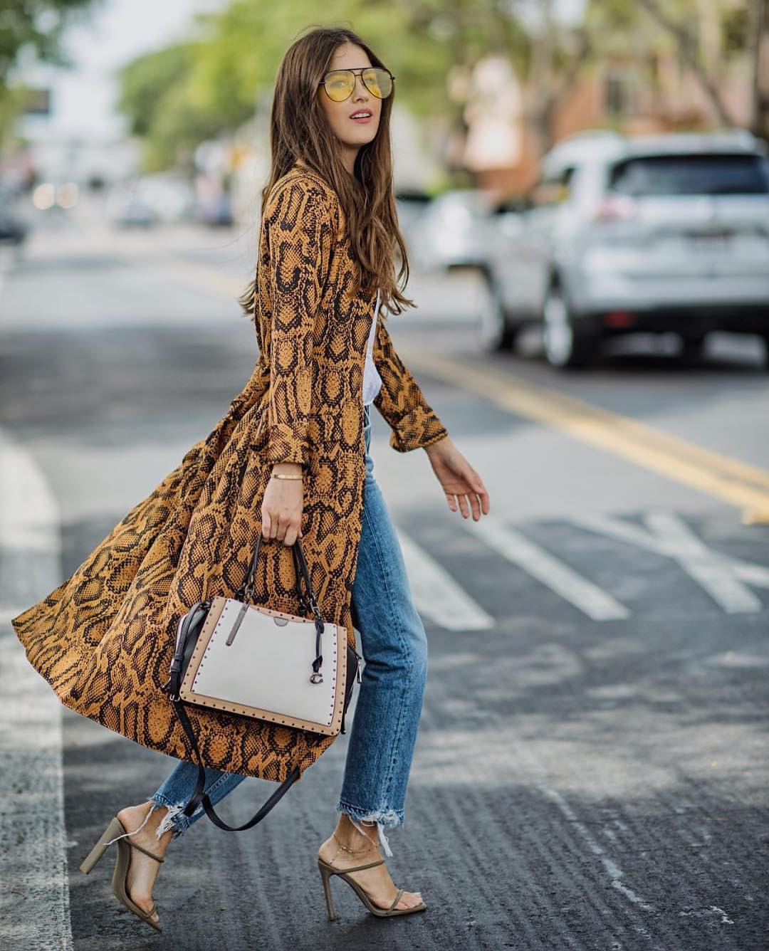 How To Wear Snakeskin Print Coat This Spring In London 2020