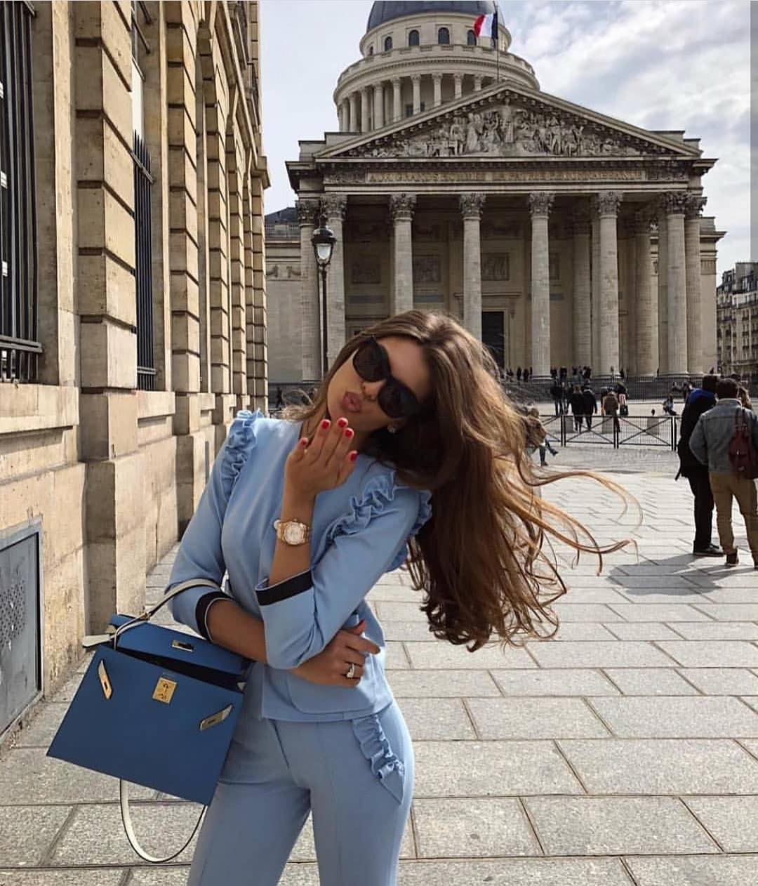 Totally Pastel Blue Suit For Summer In Paris 2019