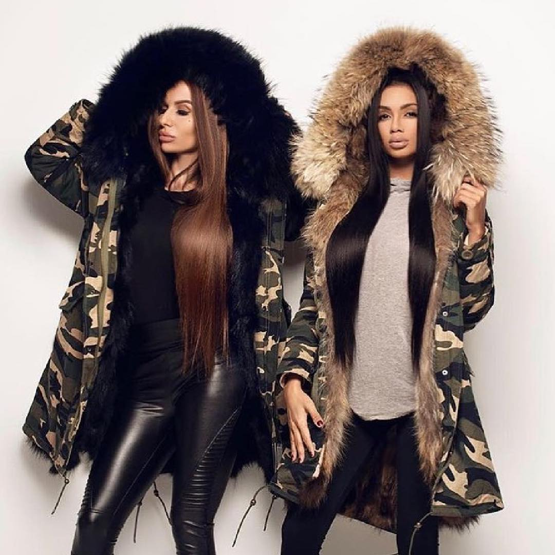 How To Wear Camo Print Parkas Embellished With Fur 2020