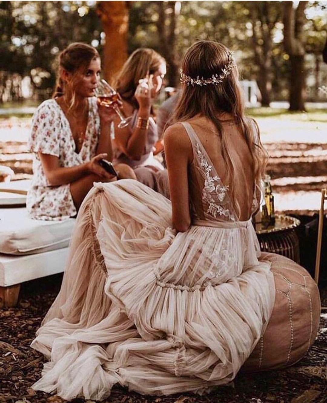 Boho Wedding Dress For Summer: Maxi Style In Cream Blush 2019