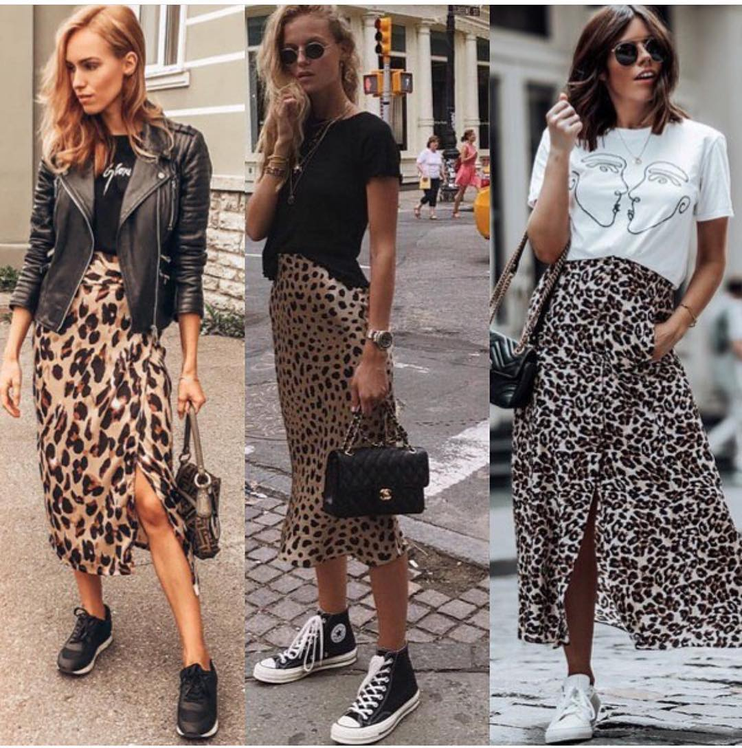 How To Wear Leopard Print Midi Skirt This Spring 2019