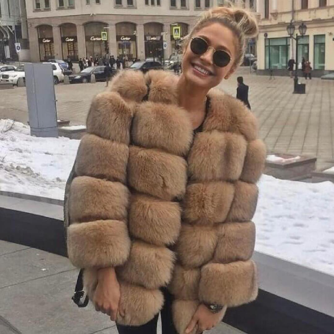 Big Fur Jacket For Winter In Milan 2019