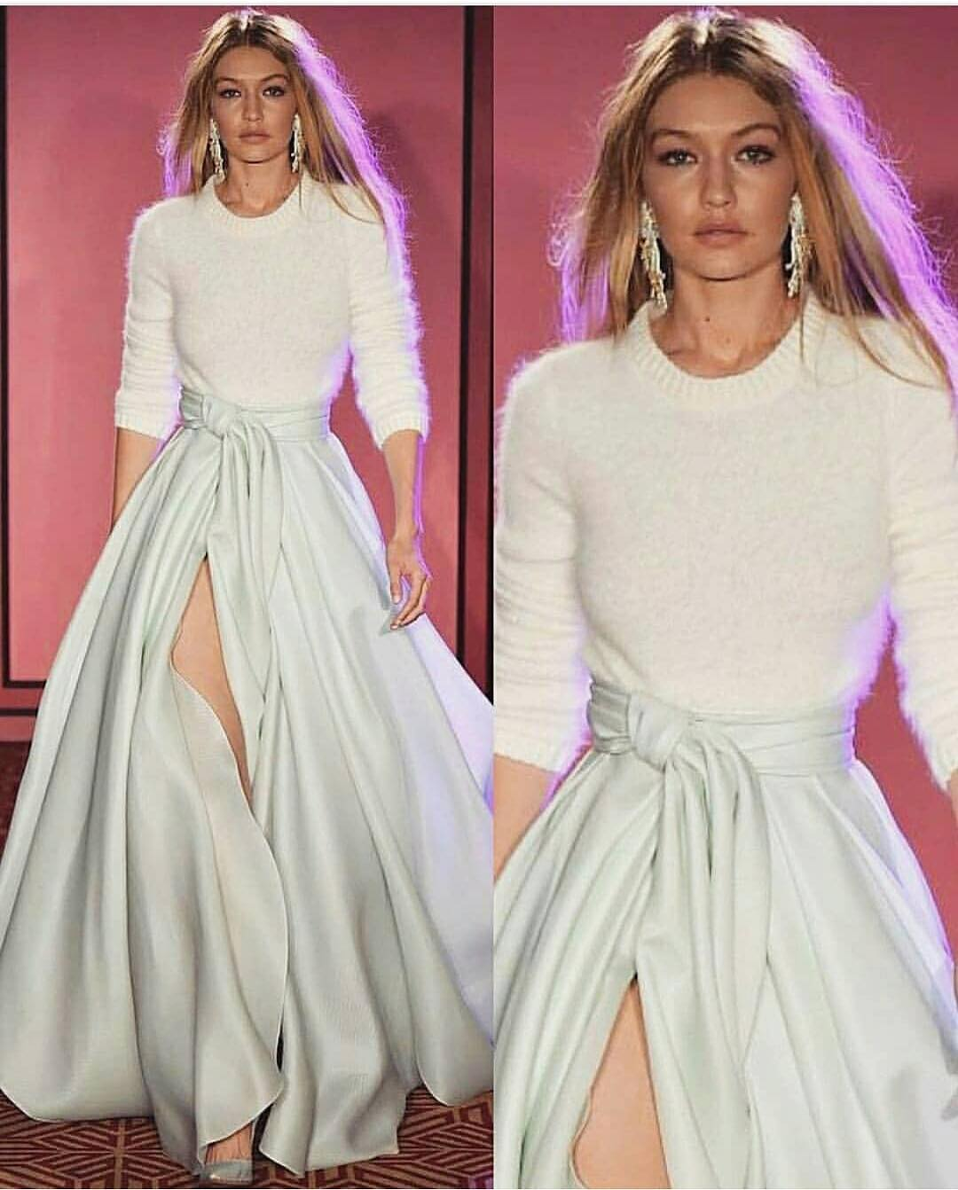How To Style Mohair Sweater In White And Maxi Skirt This Fall 2020