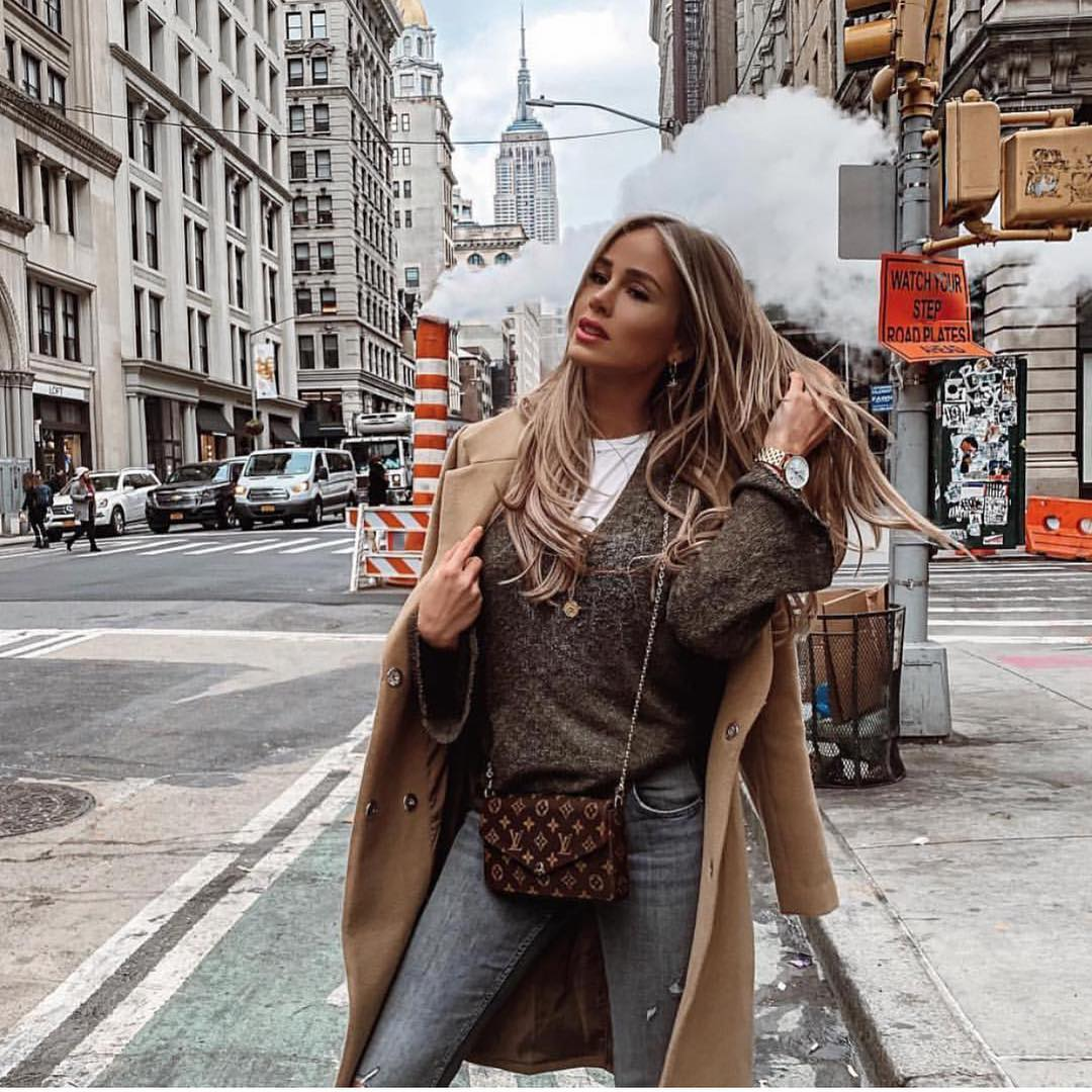 Camel Coat And Jeans: New York Fall Essentials 2020