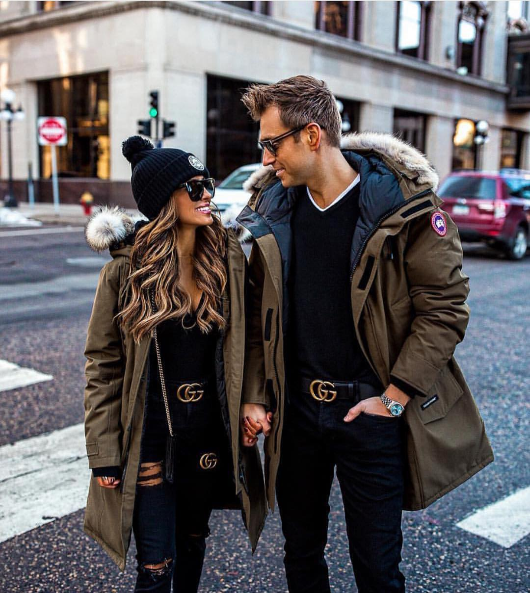 Khaki Parka For Her And Him Couple Goals 2019